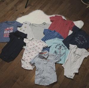 Lot boys 12 month short sleeve shirts